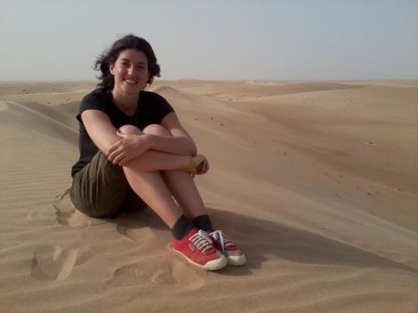 io nel deserto del Wahiba